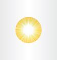 sunshine rays sun icon solar energy vector image vector image