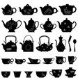 tea teapot cup chinese japanese asian oriental vector image