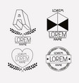 vintage insignias sketch set in monochrome vector image vector image
