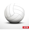 Volleyball in traditional color on white vector image vector image