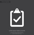 vote premium icon white on dark background