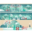 Winter Banners with Landscapes Elements Set vector image vector image