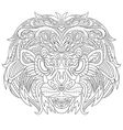 Zentangle stylized cartoon lion mask vector image