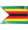 zimbabwe national flag vector image vector image