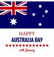happy australia day 26 january festive design vector image