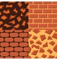 seamless textureof bricks and ground vector image
