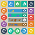 Currency exchange icon sign Set of twenty colored vector image