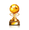 golden ball isolated vector image