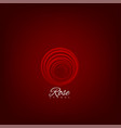 red rose symbol vector image