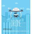 concept of the drone with the camera vector image