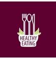 logo healthy eating vector image