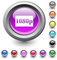 1080p round button vector image vector image