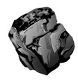 a fragment of stone coal the source of energy and vector image vector image