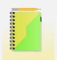 a note book with lots of room for your text or ima vector image vector image