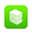 arranged clothes icon green vector image vector image