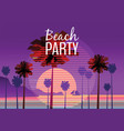 beach party at seashore sea landscape with palms vector image