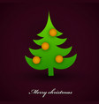 beautiful christmas tree background vector image
