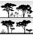big tree silhouette scenery artwork of real vector image vector image