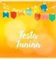 brazilian festa junina greeting card invitation vector image
