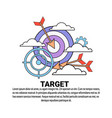 business target strategy concept banner with copy vector image