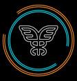 caduceus symbol - healthcare vector image
