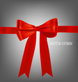 Card with red ribbons bows vector image vector image
