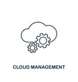 cloud management outline icon thin line style vector image vector image