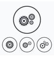 Cogwheel gear icons Mechanism symbol vector image vector image