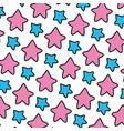 color nice star art shape background vector image
