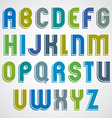 Colorful cartoon font rounded upper case letters vector image vector image