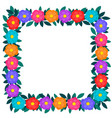 colorful paper cut out flowers and green leaves vector image vector image