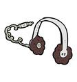 comic cartoon headphones vector image vector image