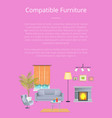 compatible furniture poster vector image vector image