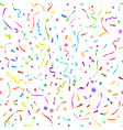 confetti seamless pattern vector image vector image