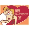 Cool art couple in love and heart with vector image vector image