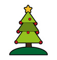 decorated tree christmas related icon image vector image vector image