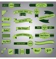 Discount retro ribbon green set vector image vector image