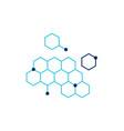 dna honeycomb icon vector image vector image