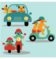 dogs and vehicles vector image vector image