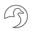 duck line vector image