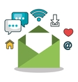 email social media design isolated vector image vector image