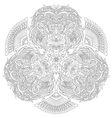 entangle stylized cartoon lion mask vector image vector image