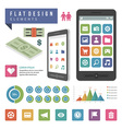 Flat ector infographic design elements concept and vector image vector image