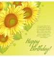 Floral decorative card with sunflowers vector image vector image