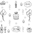For kids set party doodle vector image vector image