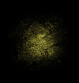 gold glitter texture on black background vector image vector image
