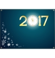happy new year 2017 with clock abstract background vector image