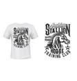 horse training equestrian club t-shirt print vector image vector image