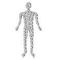 industrial robot man figure vector image