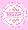 Its a girl ornament vector image vector image